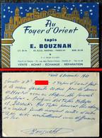 TAPIS D'ORIENT - Au Foyer D'Orient - E. BOUZNAH - PARIS VI° - 1965 - Au Verso Récépissé De Vente - Cartoncini Da Visita