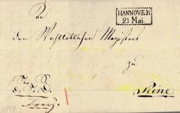 1819 HANNOVER Bf Mit Inhalt Nach Peine - [1] Prephilately