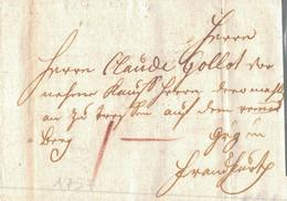 1757 WÜRZBURG Bf Mit Inhalt Nach Frankfurt - [1] Prephilately