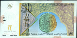 ♛ MACEDONIA - 50 Denari 08.1997 {Narodna Banka Na Republika Makedonija} UNC P.15 B - Macedonië