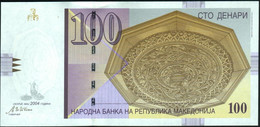 ♛ MACEDONIA - 100 Denari 5.2004 {Narodna Banka Na Republika Makedonija} UNC P.16 E - Macedonië