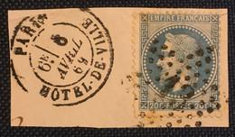 Timbre De France Classique N°29B Obl étoile De Paris N°13 - 1863-1870 Napoléon III Con Laureles