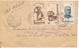 Lettre De Tsiroanomandidy Le 1 OCT 50 Pour Paris Avec YT 303, YT306 Et YT 314 - Voir Le Verso  Et Les Scans - Brieven En Documenten