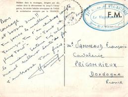 3695 Carte Postale  FM 1956 Franchise Militaire Tampon 21e Régiment Infanterie 2e Bataillon  Le Vaguemestre  (Algérie) - Dokumente