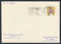 DDR Germany 1972 Brief Cover – UIC 1922-1972 50 Jahre Int. Zusammenarbeit Eisenbahnwegen / Int. Union Of Railways - Trains