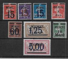 Mémel - Ensemble De Timbres - Neufs * Avec Charnière - B/TB - Unused Stamps