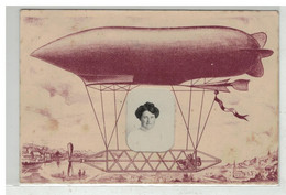 AVIATION #18124 BALLON DIRIGEABLE PHOTO MONTAGE - Aeronaves