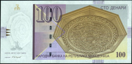 ♛ MACEDONIA - 100 Denari 8.2005 {Narodna Banka Na Republika Makedonija} UNC P.16 F - Macedonië