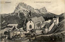 Eisenerz/Steiermark - St.Oswaldkirche Mit Pfaffenstein - Eisenerz
