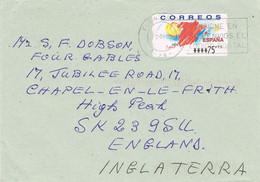 38260. Carta Aerea FUENGIROLA (Malaga) 2002. ATM, Syv  Spain Map - 2001-10 Brieven