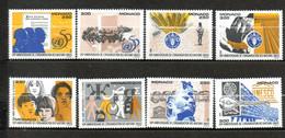 MONACO Organisation Des Nations - Unies 1995 N°2009a-2009h - Ungebraucht