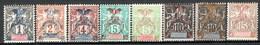 Nuova Caledonia 1903 Y.T.67/73 */MH VF/F - Unused Stamps
