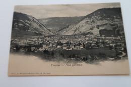 CPA - FLEURIER - Vue Générale - 1903 - NE Neuchâtel
