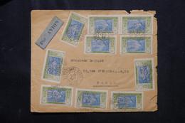 CÔTE D'IVOIRE - Enveloppe Commerciale De Grand Bassam Pour Paris Par Avion En 1933 Via Abidjan ( Voir Au Dos ) - L 75293 - Briefe U. Dokumente