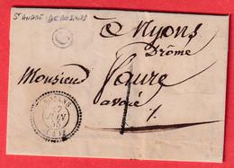TAXE 1 DE FABRICATION LOCALE CAD TYPE 22 ROSANS HAUTES ALPES BOITE RURALE C ST ANDRE DE ROSANS 1855 - 1801-1848: Precursors XIX
