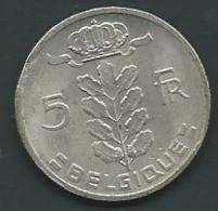 Belgium 5 Francs (Belgique) 1961 PIA 23412 - 05. 5 Francs
