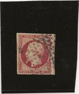 TIMBRE N° 17 A - 80 C CARMIN OBLITERE  - ANNEE 1854  COTE 70€ - Ttb - 1853-1860 Napoleone III