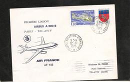 12-6-1975 PREMIÈRE LIAISON AÉRIENNE PAR AIRBUS A300 PARIS TEL AVIV - Eerste Vluchten