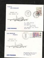 25-5-1972 PREMIÈRE LIAISON AÉRIENNE PAR BOEING 747 PARIS LOS ANGELES - Eerste Vluchten