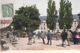 BESANCON. Place Labourée Un Jour De Marché. Edition Liard, Couleurs, Bon état. - Besancon