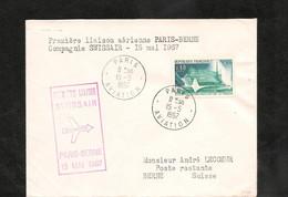 15-5-1967 PREMIÈRE LIAISON AÉRIENNE  PARIS BERNE - Eerste Vluchten