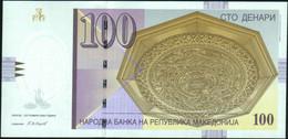 ♛ MACEDONIA - 100 Denari 9.2008 {Narodna Banka Na Republika Makedonija} UNC P.16 I - Macedonië