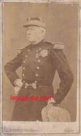 PHOTO ANCIENNE CDV MILITAIRE OFFICIER GÉNÉRAL DÉCORATIONS MÉDAILLES PHOTO E. APPERT - Antiche (ante 1900)