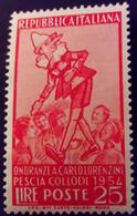 Italie Italy Italia 1954 Collodi Pinocchio Yvert 683 ** MNH - 1946-60: Nieuw/plakker