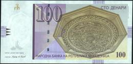 ♛ MACEDONIA - 100 Denari 1.2009 {Narodna Banka Na Republika Makedonija} UNC P.16 J - Macedonië