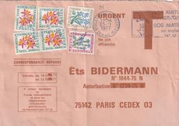 Lettre Des Ets BIDERMANN Taxée Car Date De Validité Dépassée. Taxe De 2f. Par N° 96 + 99 + 100 X 4.(TTB) - Lettere Tassate