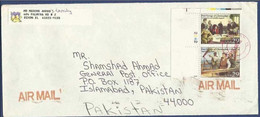 USA UNITED STATES OF AMERICA 1992  AIRMAIL POSTAL USED COVER TO PAKISTAN FIRST VOYAGE OF CHRISTOPHER COLUMBUS - Lettres & Documents
