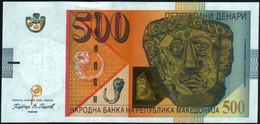 ♛ MACEDONIA - 500 Denari 1.2009 {Narodna Banka Na Republika Makedonija} UNC P.21 B - Macedonië