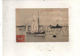 La Rochelle (17) : Le Bateau Pilote Et Le Bateau Dragueur De L'avant--port De La Pallice Env 1913 (animé) PF. - La Rochelle