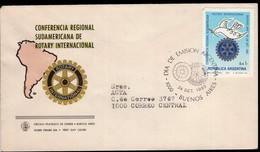 Argentina - 1983 - Lettre - FDC - Cachet Spécial - Conférence Régionale Sud-américaine Du Rotary International - A1RR2 - Rotary, Lions Club