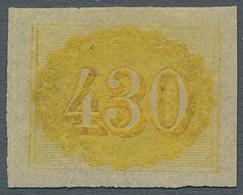 Brasilien: 1854, Freimarke 430 Reis Gelb, Voll- Bis Breitrandig Geschnitten In Tadelloser Ungebrauch - Neufs