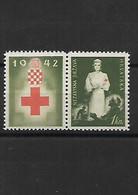 823 CROATIE Au Profit De La Croix Rouge 1942- Neuf ** - Croacia
