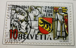 SUISSE 1941 Commémoratif Du 750e Anniv Fondation De Berne Y&T N°370 /O/ - Used Stamps