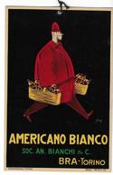 "LOCANDINA 16,8X26 PUBBLICITARIA"" AMERICANO BIANCO"" BRA (TORINO) FIRMA MAGA  SOC.AN.BIANCHI&C.-2-0882 -29684 - Werbepostkarten"
