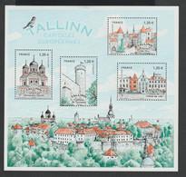BLOC  FEUILLET  -  F 5212  -  2018  -  Capitale Européennes    -  Tallinn     -  Neuf  -   Non Plié  - - Ungebraucht