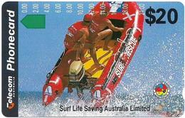 Australia - Telstra (Anritsu) - 1994 Life Saving In Australia - Boat Rescue (Series N), 09.1994, 20$, 108.500ex, Mint - Australia