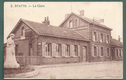 STATTE HUY- La Gare  Statie Station - 2 Scans - Huy
