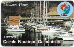 New Caledonia - OPT - Cercle Nautique Calédonien, NC-025, Gem1A Symm. Black, 12.1994, 5Units, 3.000ex, Used - Neukaledonien