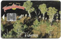 New Caledonia - OPT - Transcaledonienne, NC-039A (No CN.) SC7, 02.1996, 5Units, 1.600ex, Used - Neukaledonien