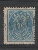 Island 14 Aa Gestempelt - 20 Aurar Ziffer 1882 Ultramin, Zähnung 14 : 13 1/2 - Gebraucht
