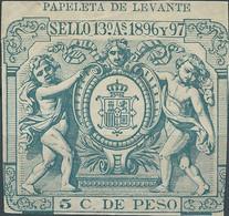 Puerto Rico-Portorico, Spanish Revenue Stamp,1896-97 Papeleta De Levante 5c.De Peso,Mint - Porto Rico