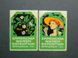 Reklamemarken Thee Vignettes Thé Cinderellas Tea Emmericher Waren Expedition Emmerich A/Rh - Vignetten (Erinnophilie)