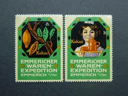 Reklamemarken Kakao Vignettes Cacao Cinderellas Cocoa Emmericher Waren Expedition Emmerich A/Rh - Vignetten (Erinnophilie)
