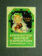 Reklamemarke Schocolade Vignette Chocolat Cinderella Chocolate Emmericher Waren Expedition Emmerich A/Rh - Vignetten (Erinnophilie)