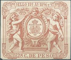 Puerto Rico-Portorico, Spanish Revenue Stamps,1896-97 Fiscal 25c.De Peso,Not Used,Mint - Porto Rico