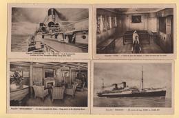 Lots De 4 Cartes Postales Paquebot - Piroscafi